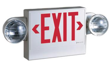 exit and emergency light sign Garland, ME
